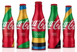 Olympic-themed Coca-Cola bottles
