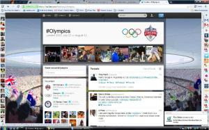 screen shot of #Olympics tweets