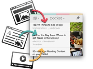 Save anywhere with Pocket