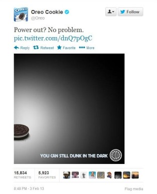 Oreo Super Bowl blackout ad