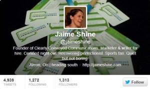 Jaime Shine/CCC Twitter Bio