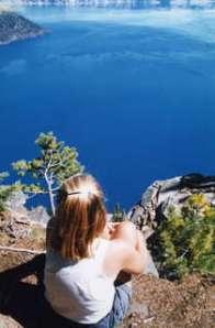 Cheryl Strayed at Crater Lake