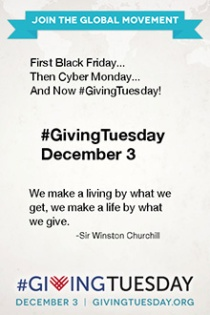 #GivingTuesday is December 3, 2013