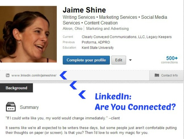 LinkedIn: Are You Connected?