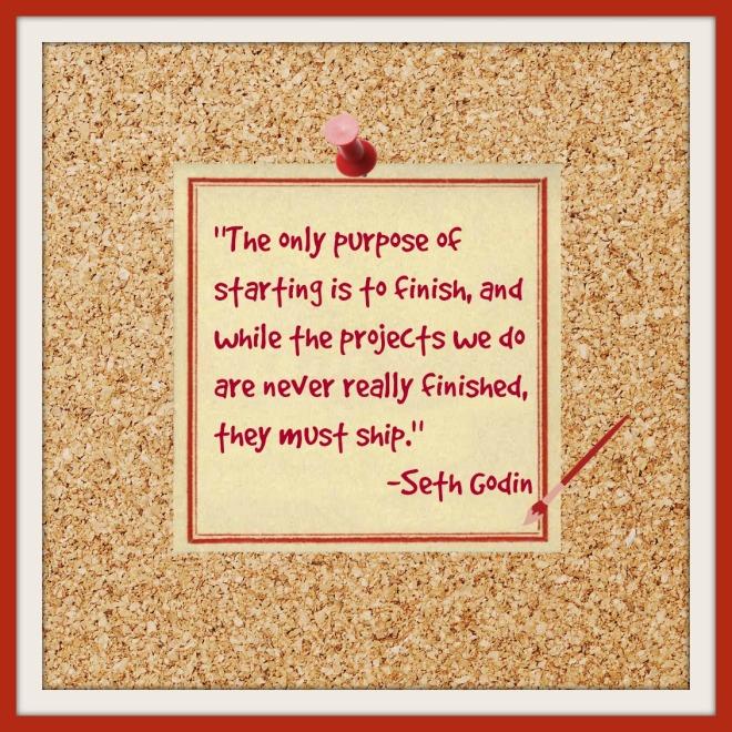 Seth Godin on shipping (aka publishing)
