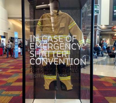 TECGEN® PPE's unique hallway display shattered convention!