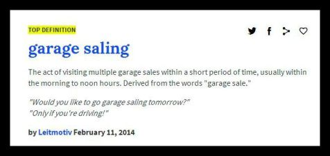 Are you a garage saler (or sailor)?