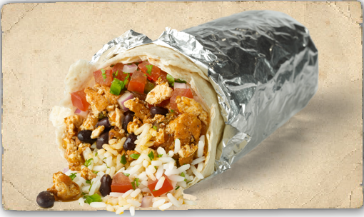 A Sofritas burrito from Chipotle
