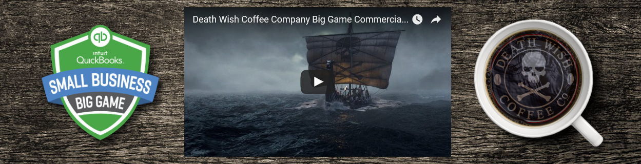 Death Wish Coffee Co is the 2016 winner of Intuit's Small Business, Big Game contest!