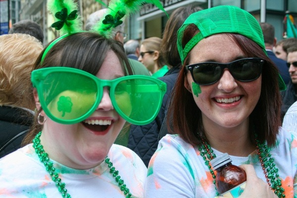 St. Patrick's Day revelers enjoy the celebration