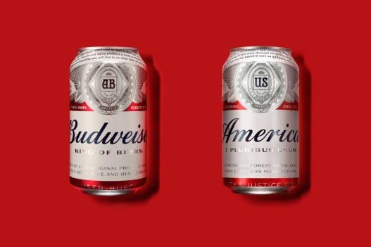 Budweiser becomes America temporarily.