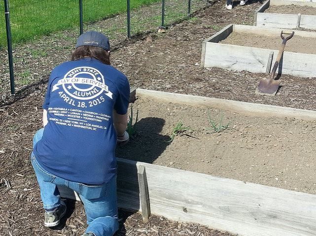 Yours truly at Kent State Alumni Association's National Day of Service 2015