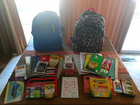 School supplies donation