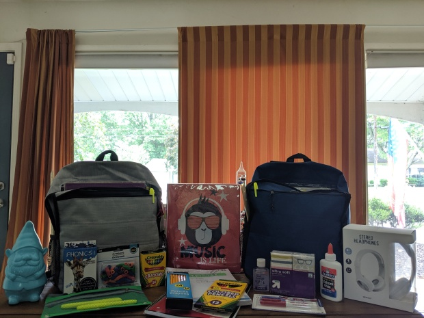 Each year, CCC provides school supplies for two children in the Akron area.