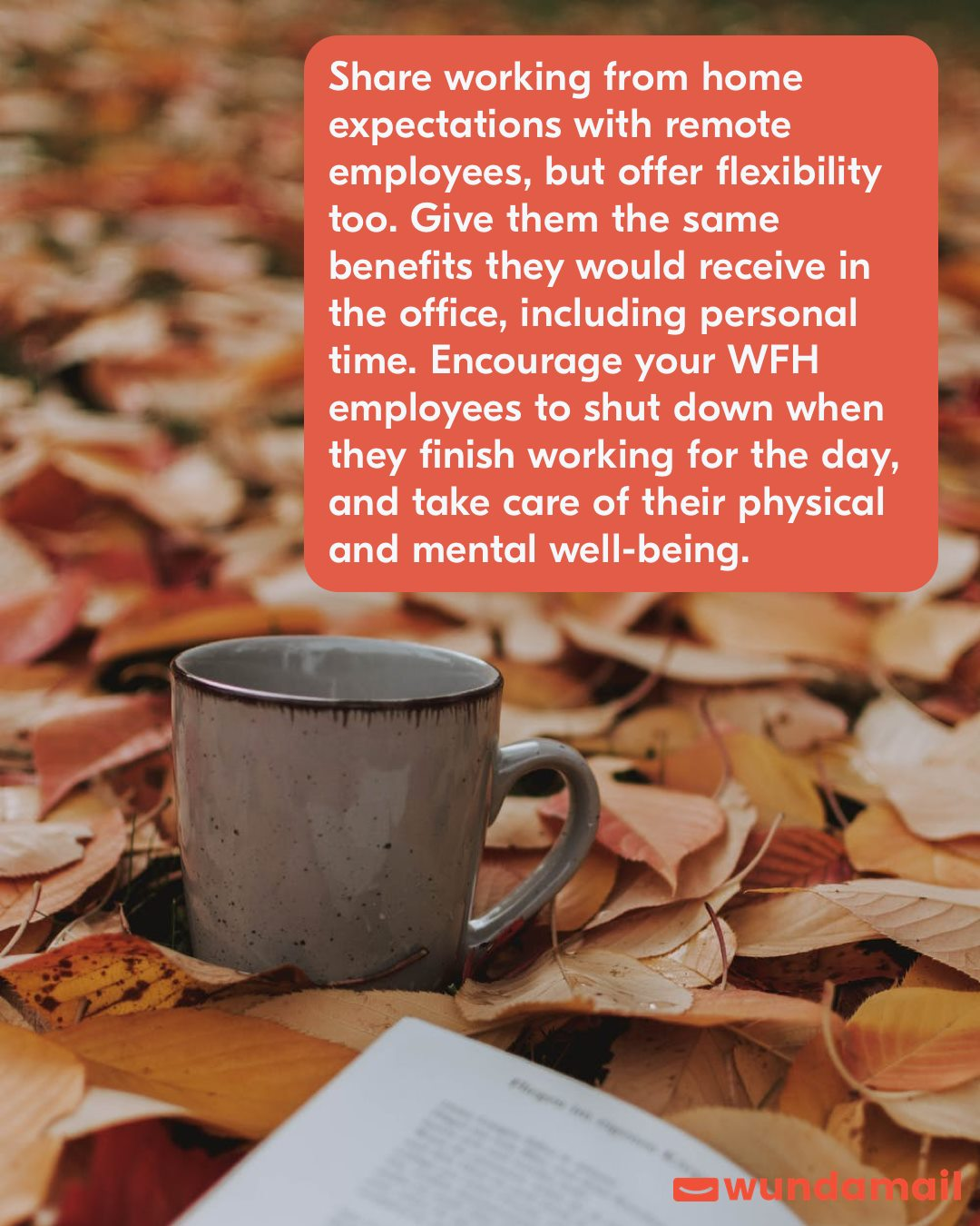 Share working from home expectations with remote employees, but offer flexibility too.